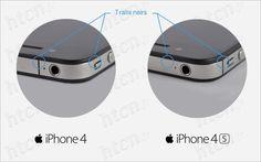 Reconnaitre un iPhone 4 d'un 4S.