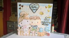 Cute! I used Kanban Patchwork pals to make this wedding card.