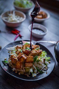 Tofu with sweet soy sauce dressing (Tahu goreng ke…