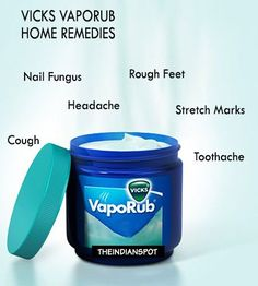 You may think that vicks vaporub is only for runny nose, then you're wrong. It has many other benefits and can actually be one of the most effective remedy for many different at-home treatments. In today's article I am going to share some amazing home remedies using Vicks vapor that are highly effective:   Rough