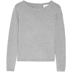 Manhattan open-back cotton-blend sweater | SE | THE OUTNET (205 AUD) ❤ liked on Polyvore featuring tops, sweaters, clothing - tops, jumpers, open back tops and open back sweater