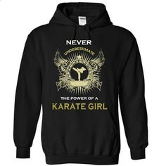 Never underestimate a karate girl - #sweats #novelty t shirts. BUY NOW => https://www.sunfrog.com/Sports/Never-underestimate-a-karate-girl-girl-8132-Black-13111902-Hoodie.html?60505