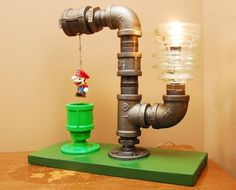 Bring Back Some Nostalgic Memories With The Mario Bros. Theme Industrial Pipe Lamp, $180