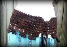 corset belt - crocheted  I did this in bamboo.........should've used wool.......