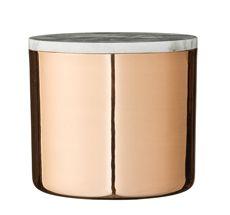 Bloomingville Deco Jar, Copper w/Marble Lid
