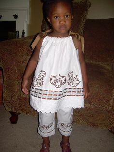 Custom Girls Pillowcase Dress Capri Pants by ibelieveicandesigns, $65.00