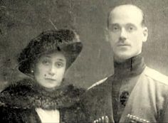 Grand Duke Michael Alexandrovich, and his longtime mistress and later morganatic wife, Natalie Wulfert. Their marriage caused a scandal.
