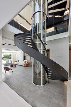 When you find yourself trying to decide upon a design and layout for your home staircase, it can be more than a bit of a challenge to pick something ple. Staircase Railings, Curved Staircase, Staircases, Spiral Stair, Railing Design, Staircase Design, Stairs Architecture, Interior Architecture, Interior Stairs