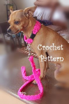 Posh Pooch Designs Dog Clothes: Cord Dog Collar and Leash Free Crochet Pattern .. ok it's for a chichi, but I'm sure it could be modified for larger dogs.