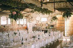 Rustic Barn Filled with British Grown Flowers | Will Bembridge Photography | Rustic Wedding