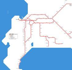 Rail map, Cape Town