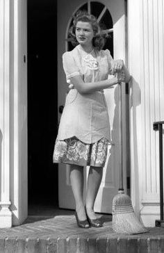 housewife.....My little mother was a true 50's housewife, with a house full of kids.   She loved it, and took time to teach us so many important skills, how to Have fun, and most of all that family is the best!!