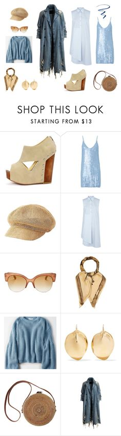 """Весеннее небо"" by goldiris-1 on Polyvore featuring мода, Chinese Laundry, Fleur du Mal, Charlotte Russe, MM6 Maison Margiela, Jimmy Choo, Valentino, American Eagle Outfitters, Ariana Boussard-Reifel и L'Oréal Paris"