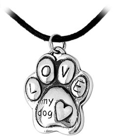 Puffy Paw Print Sterling Necklace Every Purchase Funds Food and Care for Rescued Animals.
