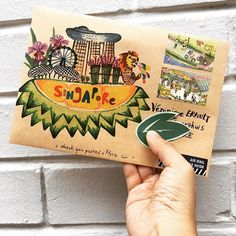 If my friend can't come to Singapore, then I must deliver Singapore to my friend !  . . #singapore #durian #merlion #happymail #draw #handdrawn #handpainted #doodle #write #handwritten #handwrittenwordsarethebest #writemoreletters #sendmoremail #sendmylove #snailmail #snailmailart #snailmaillove #snailmailrevolution #letter #letterart #letterlove #envelopeart #postal #stamp #friendsacrosstheworld #penpals #stationery #travel