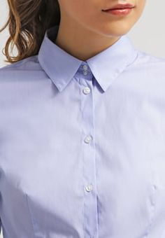HUGO ETRIXE - Skjorte - light blue - Zalando.no Light Blue, Tops, Women, Fashion, Moda, Fashion Styles, Fashion Illustrations, Pastel Blue, Light Blue Color