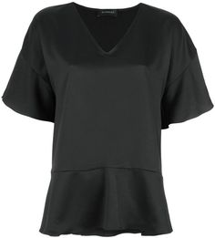 Comfortable Online short sleeves blouse - Black OLYMPIAH Wholesale Price Cheap Price n1hXY5x