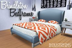 Sims 4 CC's - The Best: BRINDLETON BEDFRAME by Industrisims