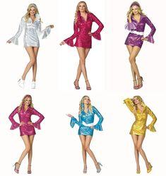 81aaa6fa 70's Disco Fever Woman Dress. (Belt is not included). Art.81675 - Blue.  Art.81672 - Black. | eBay!