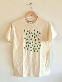Forest Screen Printed T Shirt, Tree Print