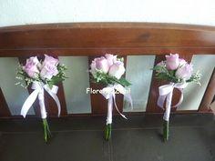 Ramos para damas de honor #Maidsbouquets #purplerosesbouquet