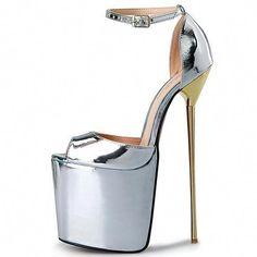 T1 Womens Over High Heels Pumps Platform Shoes Stilettos Ankle Strap  Sandals  goldstilettoheels  Platformhighheels 64c4360f3f83