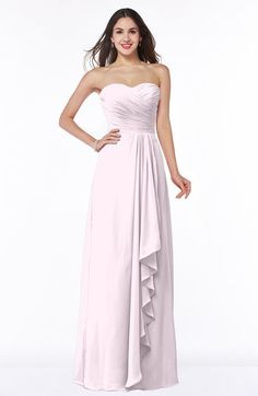 Classic A-line Zipper Chiffon Floor Length Plus Size Bridesmaid Dresses