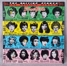 """The Rolling Stones 1978 Some Girls COC 39108 12"""" Vinyl 33 LP Record - Beast Of Burden - Shattered - Miss You - Respectable VG+ Plays Great by TheTreasureTrail2 on Etsy"""