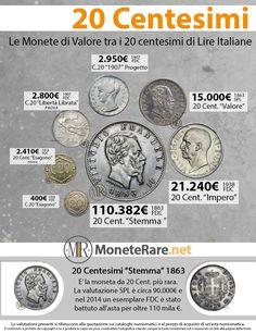 20 Centesimi   Il Valore dei 20 Centesimi Rari di Lira   Moneterare.net