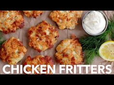 How To Make Cheesy Chicken Fritters - Must Try Recipe The cheese in these chicken fritters forms a crisp outer crust and a lovely cheese pull as you bite into these yummy chicken fritters. Juicy and delic. Keto Recipes, Dinner Recipes, Cooking Recipes, Cooking Food, Healthy Recipes, Mozzarella, Chicken Fritters Recipe, Chicken Patties, Cheesy Chicken