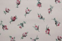 YES!!!  1940's Vintage Wallpaper Pink Rosebuds on White by RosiesWallpaper, $14.00