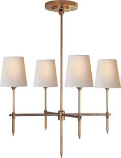 "BRYANT SMALL CHANDELIER | Circa Lighting - dining room chandelier option, in Bronze, custom min height 28"" $525"