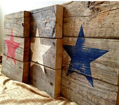 Stars stenciled on barn wood ⭐️
