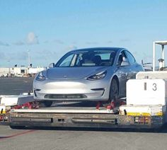 Tesla Model 3 at Auckland Airport, New Zealand