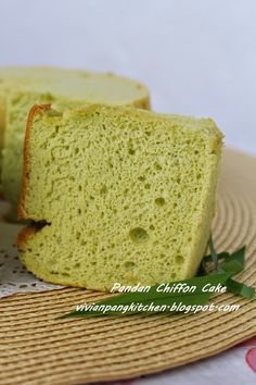 Pandan chiffon cake is very common and easy available at any bakery shop. However most of them are using artificial flavouring. With hom. Pandan Chiffon Cake, Pandan Cake, Baking Recipes, Cake Recipes, Dessert Recipes, Yummy Recipes, Easy Pound Cake, Mug Cake Microwave, Steamed Cake