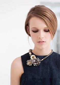 Statement necklace & Royal blue dress