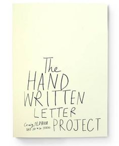 Tuesday Ten: Best Coffee Table Books - I'd really like to find a copy of The Hand Written Letter Project!