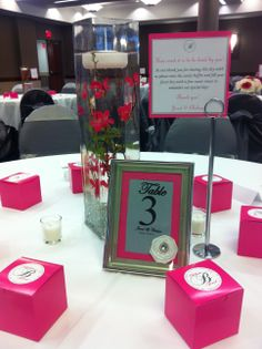 Submerged Flower Centerpiece-Old Hollywood Wedding by Designed Sealed and Delivered