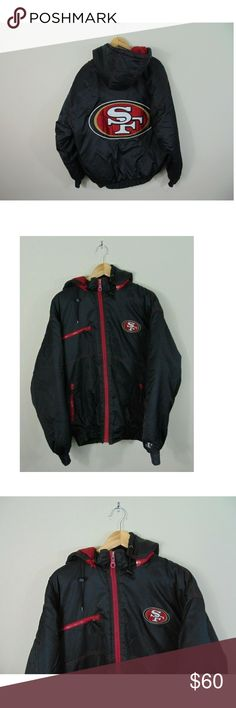 Vintage Logo Athletic L San Francisco 49er Jacket Vintage Logo Athletic L  San Francisco 49er Full Zip Jacket Coat NFL Football 90s Gently pre-owned  ... 720cb8e1e