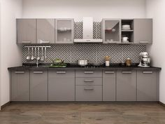 Get your Paradiso Straight Modular Kitchen Designs from HomeLane Kitchen Cupboard Designs, Kitchen Room Design, Modern Kitchen Design, Interior Design Kitchen, Home Decor Kitchen, Kitchen Ideas, Kitchen Modular, Modern Kitchen Cabinets, Modular Cabinets