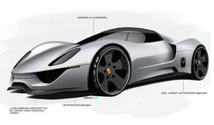 porsche 918 spyder - xg10 project - 2009 - early sketches Car Design Sketch, Car Sketch, Porsche 918 Spyder, Automotive Design, Auto Design, Commercial Vehicle, Transportation Design, Amazing Cars, Car Car