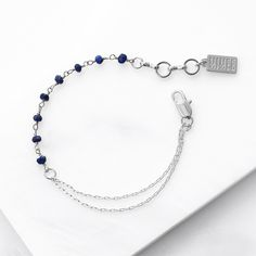 Bleu Asymmetrical Bracelet – Silver | Dainty Chain Bracelet