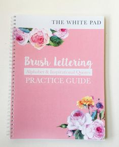 Brush Lettering Practice Book Watercolor Lettering, Brush Lettering, Brush Markers, Dip Pen, Lettering Tutorial, Alphabet, Inspirational Quotes, Tutorials, Learning