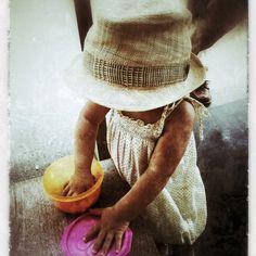 little ona enjoying summer!