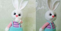 AmiGURUMI is very fun, makes children happy, or you still … – MyHeartLife Easter Bunny Crochet Pattern, Crochet Patterns Amigurumi, Crochet Dolls, Crochet Yarn, Bunny Toys, Cute Bunny, Yarn Crafts, Doll Patterns, Crochet Projects