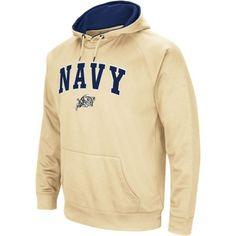 Colosseum Men's Navy Midshipmen Gold Performance Hoodie, Blue