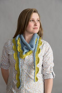 Ravelry: Two-Color Seedling Scarf pattern by Susan Mills free pattern