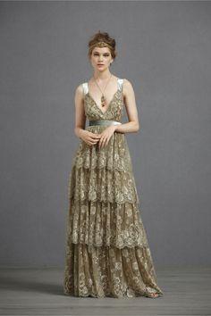 ruffled dress