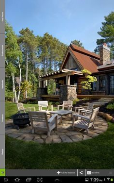 If the firepit doesn't fit on the deck, build a patio out from the stairs