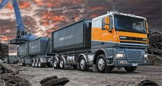 DAF FAD (8x4) XF105 Comfort Cab Train Truck, Road Train, Semi Trucks, Old Trucks, Engin, Toys For Boys, Concept Cars, Transportation, Autos